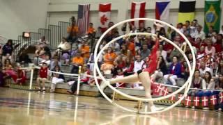 10th World Championships in Wheel Gymnastics Day 4 Senior Woman Spiral Final Kathrin Schad 1st place