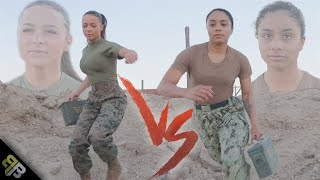 US Marine vs US Navy Sailor FEMALE EDITION Obstacle Course Battle