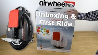 AirWheel Electric Unicycle Unboxing & First Ride