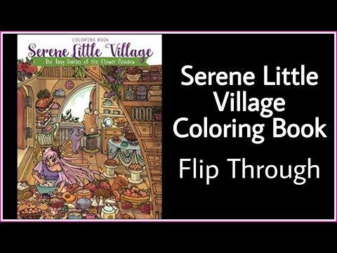 Serene Little Village Coloring Book - Flip Through