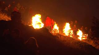Pottenstein im Lichterglanz der Bergfeuer zum Beschluss der Ewigen Anbetung