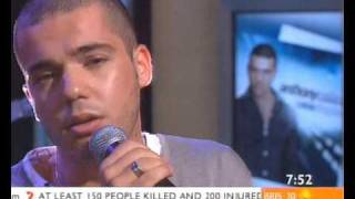 Anthony Callea performs Live for Love on Sunrise 18th Nov 06