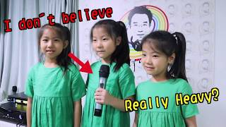 Cute triplets learning how to sing, relax and let's laugh! 可愛三孖女學唱歌超治癒,笑下啦年青人!