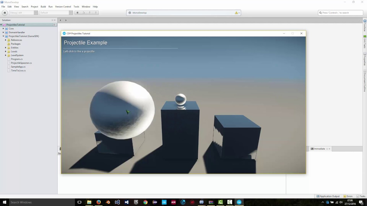 CRYENGINE V Tutorial - Projectiles with C#