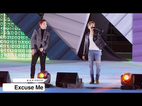 B.A.P 비에이피[4K 직캠]Excuse Me@20161013 Rock Music