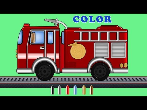 Kids TV Channel | Learn Colors with Fire Truck | Coloring Videos | Colors Song
