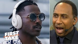 Stephen A. reacts to Antonio Browns' tweets: Don't allow him back this season! | First Take
