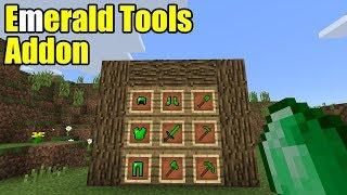 Emerald Tools Addon | Minecraft PE Gameplay Walkthrough