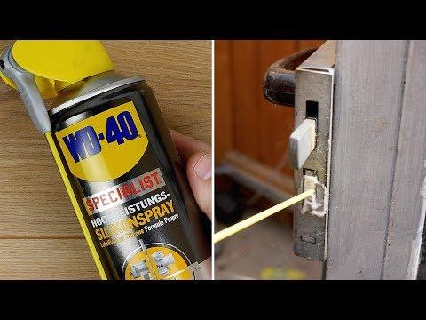 Quietschende Türen, Türgummi am Auto pflegen & vieles mehr! SILIKONSPRAY von WD40 - Anwendungen!