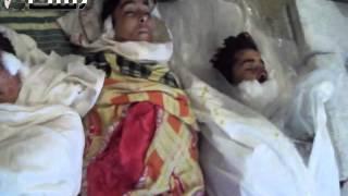 preview picture of video 'زملكا 28-2-2013 مجزرة ثلاثة افراد من عائلة واحدة جراء القصف'