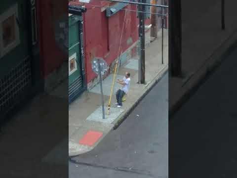 Guy on drugs arrests himself