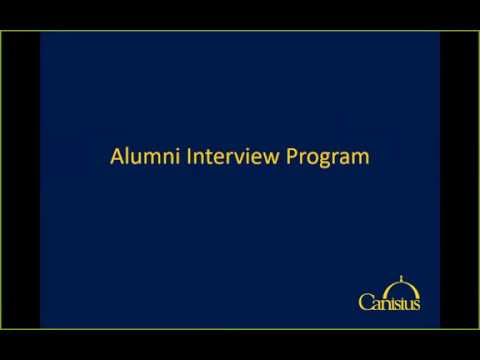 Alumni Interview Training Video