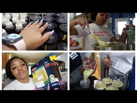 , title : 'Starting My Business, ALL NATURAL Hair Products, Creating Labels! | Entrepreneur Life Vlog EP. 1