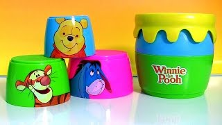 Winnie the Pooh Stacking Cups Surprise with Honey Pot Tigger & Eeyore Toy Surprise Eggs