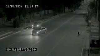 Ночью уличная камера наблюдения засняла призрака, спасшего девушку