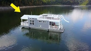Tiny Houseboat That Looks Normal At First Glance Is Hiding One Of The Coolest Secrets Around