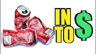 RECYCLING CANS & BOTTLES FOR CASH!!! - HAPPY EARTH DAY!