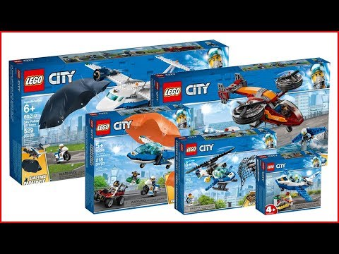 LEGO COMPILATION CITY Police Department 2019 sets - UNBOXING