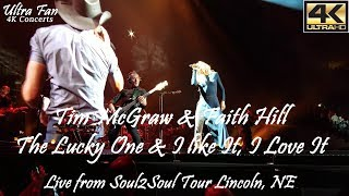 Tim McGraw & Faith Hill - The Lucky One & I Like It, I Love It Live from Soul2Soul Lincoln, NE