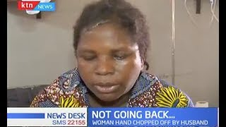 Woman whose hand was chopped off by husband declines to return home