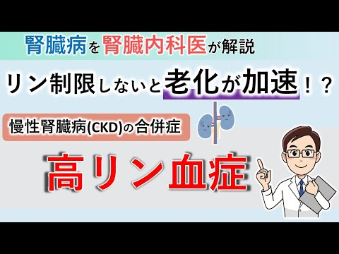 , title : '老化が加速!?腎臓病でリン制限が必要な理由【腎臓内科医が解説】