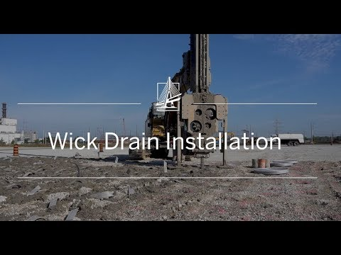 See Wick Drains being installed