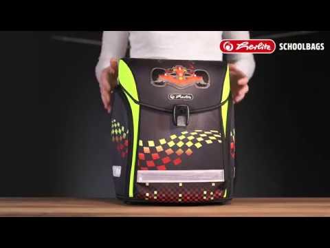 Видео 1. Ранец школьный Herlitz Midi New Plus Rainbow Butterfly с наполнением