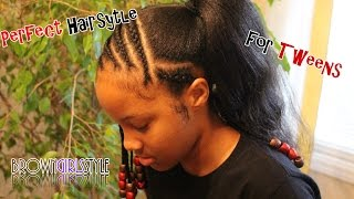 Perfect Natural Hairstyle for Tween Girls