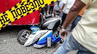 Разбилась на мотоцикле #8 Врезалась в автобус. ДТП и госпиталь на Шри Ланке
