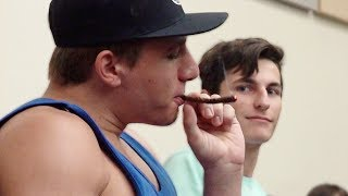 HITTING BACKWOODS IN LECTURES PRANK!