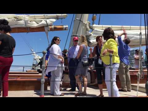 Board the schooner AMERICA Video