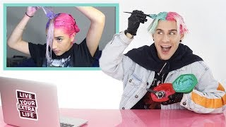 HAIRDRESSER REACTS TO SPLIT HAIR DYE WHILE COLORING MY OWN HAIR!