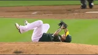 MLB Pitchers With Fast Reflexes