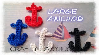 Rainbow Loom ANCHOR CHARM Easy Tutorial By Crafty Ladybug - Wonder Loom And DIY Loom