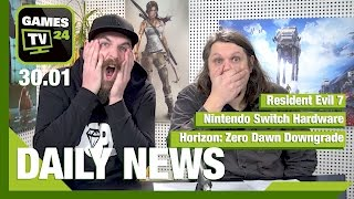 Horizon: Zero Dawn Downgrade, Nintendo Switch, Resident Evil 7 | Games TV 24 Daily - 30.01.2017