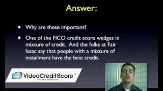 Installment Loans and Credit Scores