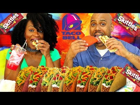 TACO BELL NEW SKITTLES FREEZE! + CHIPOTLE CHICKEN GRILLERS, BEEFY NACHO GRILLERS, & MORE!