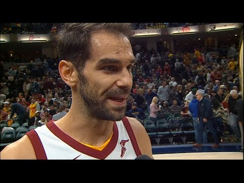 Jose Calderon Interview After The First Half Of The Game / Cavs vs Pacers