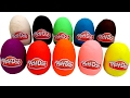Learn Colors with Play Doh Surprise Eggs Unboxing Toys Play & Learning