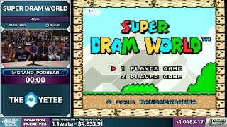Awesome SpeedRun of Super Dram World @ AGDQ with Grand Poo Bear