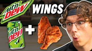 Making Mountain Dew Chicken Wings