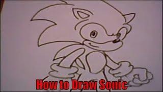 Смотреть онлайн Как нарисовать Супер Соника карандашом поэтапно