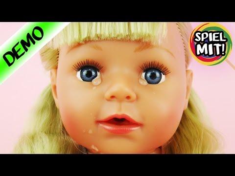 BABY BORN SISTER WEINT deutsch| Interaktive Puppe heult ihr Shirt nass | dicke Krokodils Tränen|Demo