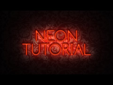 Realistic NEON Text Effect + PSD - Photoshop Tutorial
