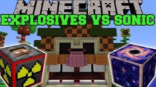 EXPLOSIVES+ VS SONIC THE HEDGEHOG - Minecraft Mods Vs Maps (Biome Buster, TNT Rain, Boom Stick)