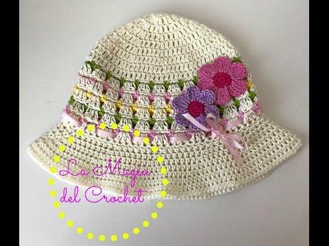 Sombrero de niña a Crochet