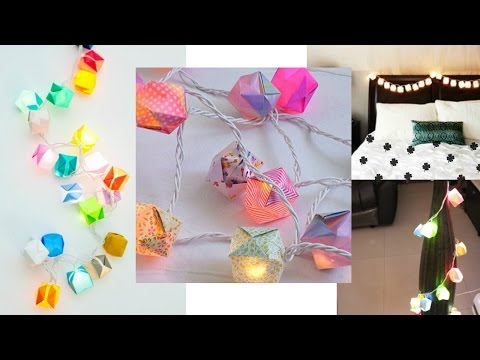 DIY Diwali Decoration at home with lights: Easy to make light string