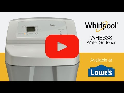 33 000 Grain Capacity Water Softener Whes33 Whirlpool
