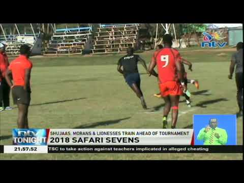 Shujaas, Morans and Lionesses train ahead of rugby tournament