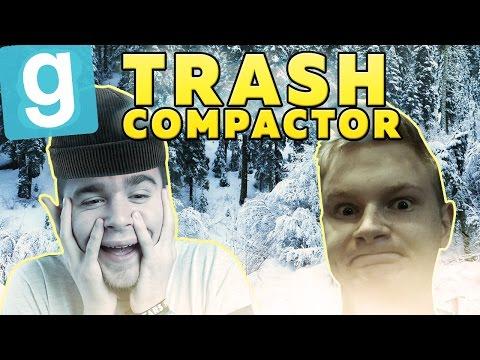 ŚNIEŻNA ŚLIZGAWKA! | Garry's mod (With: EKIPA) #485 - Trash Compactor [#8] #Bladii #Po Polsku #PL